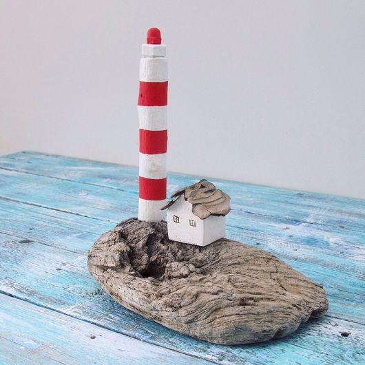 Подарочные наборы ручной работы. Ярмарка Мастеров - ручная работа. Купить Морской островок. Handmade. Маяк, деревянная статуэтка