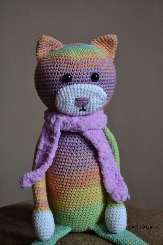 Игрушки животные, ручной работы. Ярмарка Мастеров - ручная работа. Купить Полуторный кот Аминеко. Handmade. Кот, аминеко, для малышей