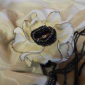 Украшения ручной работы. Ярмарка Мастеров - ручная работа Цветок в прическу (можно использовать как брошь). Handmade.