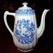 Винтаж handmade. Livemaster - original item Beautiful antique teapot, China Blau, Schumann, Germany. Handmade.