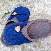 """Обувь ручной работы. Ярмарка Мастеров - ручная работа """"Горец"""" валяные мужские тапочки. Handmade."""
