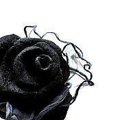 Украшения ручной работы. Ярмарка Мастеров - ручная работа Черная брошь Королева ночи. Handmade.