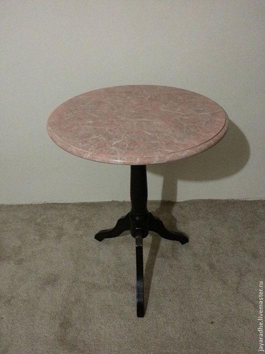 Мебель ручной работы. Ярмарка Мастеров - ручная работа. Купить Столик с мраморной столешницей. Handmade. Бледно-розовый, мраморирование
