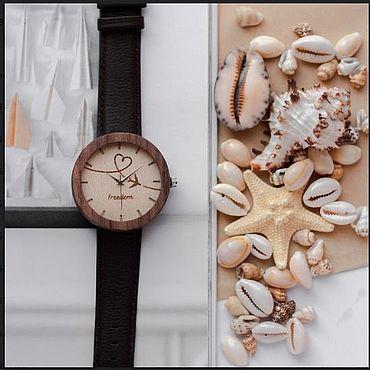 Украшения ручной работы. Ярмарка Мастеров - ручная работа Часы наручные деревянные. Ясень белый с гравировкой. Handmade.