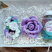"""Мыло ручной работы. Ярмарка Мастеров - ручная работа Подарочный SPA набор к 8 марта """"Violet Rose"""". Handmade."""