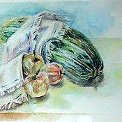 Картины ручной работы. Ярмарка Мастеров - ручная работа Акварель. Кабачок. Handmade.