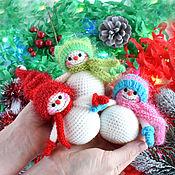 Куклы и игрушки handmade. Livemaster - original item Plush pattern pdf, Snowman decor pattern. Handmade.