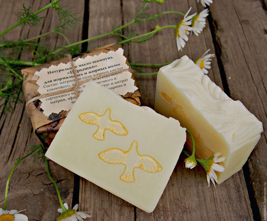 Натуральное мыло-шампунь с нуля `Пёрышко`