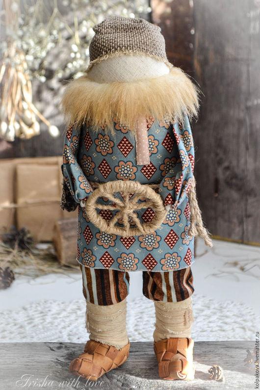 Народные куклы ручной работы. Ярмарка Мастеров - ручная работа. Купить кукла-оберег Спиридон-солнцеворот.. Handmade. Синий, береста