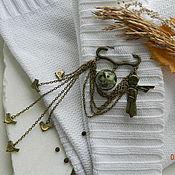 """Украшения ручной работы. Ярмарка Мастеров - ручная работа """"Маленький Принц"""" брошь-булавка (яшма). Handmade."""