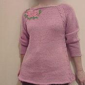 """Одежда ручной работы. Ярмарка Мастеров - ручная работа Джемпер вязаный """"Розы"""". Handmade."""