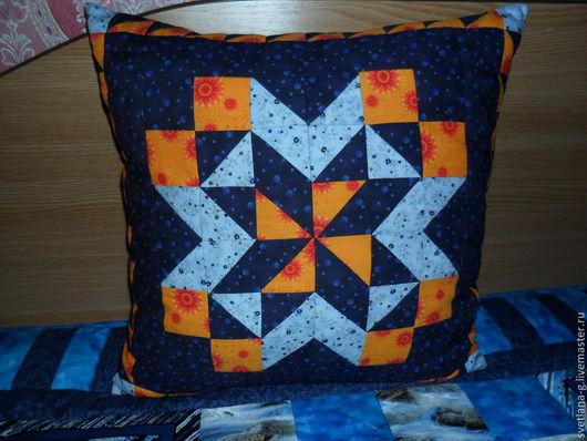 Текстиль, ковры ручной работы. Ярмарка Мастеров - ручная работа. Купить подушка декоративная  в лоскутной технике. Handmade. Подушка лоскутная