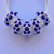 Материалы для творчества handmade. Livemaster - original item Beads, silver plated, with lenses. Handmade.