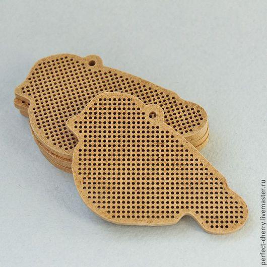 """Вышивка ручной работы. Ярмарка Мастеров - ручная работа. Купить Основа для вышивания """"Птичка"""". Handmade. Бежевый, вышивка, основа для вышивки"""