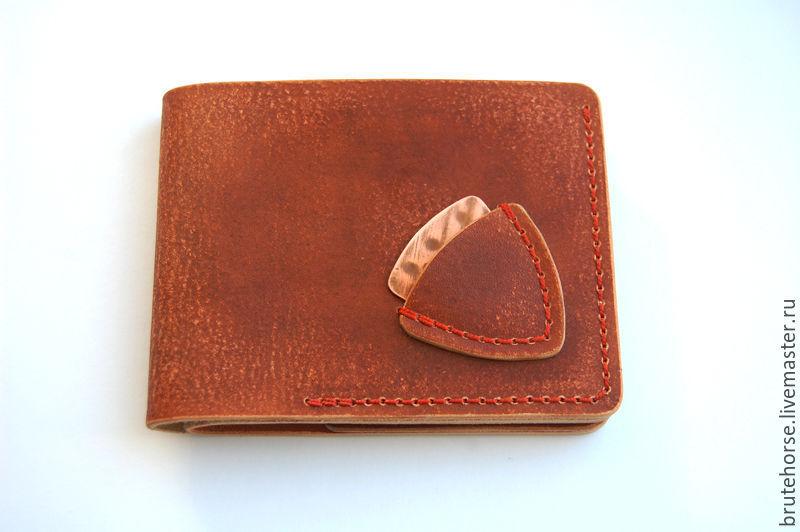 b67a1f07d8dc Мужской кожаный кошелек ручной работы для музыканта, байкера ...