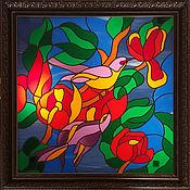 Для дома и интерьера ручной работы. Ярмарка Мастеров - ручная работа Витраж с подсветкой. Handmade.