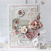Открытки handmade. Livemaster - original item Romantic greeting card