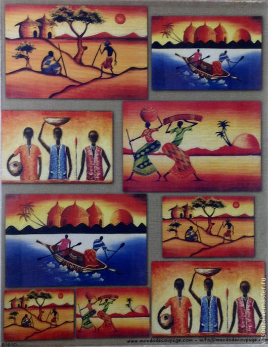 Арт.В-E101G-Африканские сюжеты.