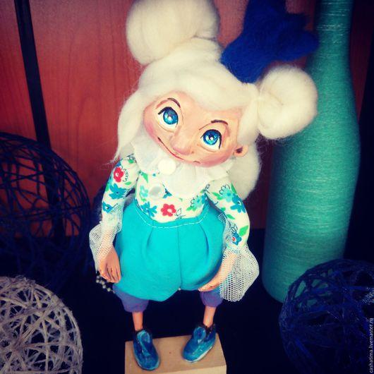 Коллекционные куклы ручной работы. Ярмарка Мастеров - ручная работа. Купить Сказочный гномик-принц)). Handmade. Бирюзовый, купить подарок
