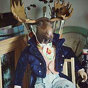 Куклы и игрушки ручной работы. Ярмарка Мастеров - ручная работа Деревянная кукла.Граф Лось. Handmade.