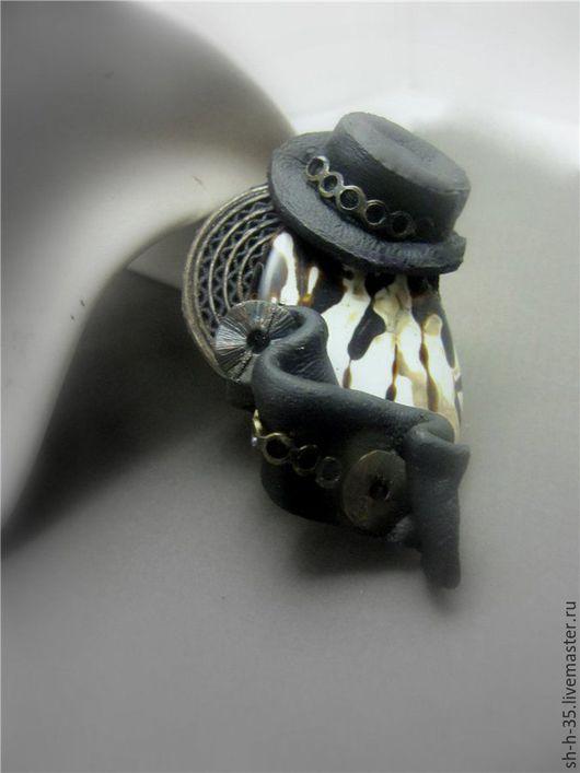 """Кольца ручной работы. Ярмарка Мастеров - ручная работа. Купить Кольцо """"Джаз"""". Handmade. Чёрно-белый, тигровый агат"""