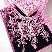 Украшения handmade. Livemaster - original item Pink beaded necklace