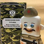 Подарки к праздникам handmade. Livemaster - original item Charter of the RF Armed Forces with the Soldier. February 23. Handmade.