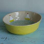 """Посуда ручной работы. Ярмарка Мастеров - ручная работа Салатник """"Море внутри"""". Керамика. Handmade."""