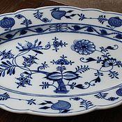 Винтаж handmade. Livemaster - original item Large, porcelain, fat, with a very beautiful hand painted Dish. Handmade.
