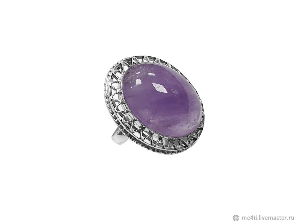 """Ring """"Violet Bliss"""" silver 925, amethyst, Rings, Moscow,  Фото №1"""