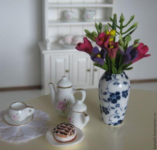 Куклы и игрушки ручной работы. Ярмарка Мастеров - ручная работа. Купить ваза с цветами. Handmade. Комбинированный, ваза с цветами