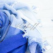 Аксессуары handmade. Livemaster - original item Stole the basic blue of the empty linen