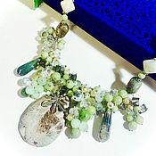Украшения handmade. Livemaster - original item Necklace with jadeite,nephrite, onyx