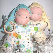 Куклы и игрушки ручной работы. Ярмарка Мастеров - ручная работа Кукла-бабочка, погремушка, прорезыватель.. Handmade.