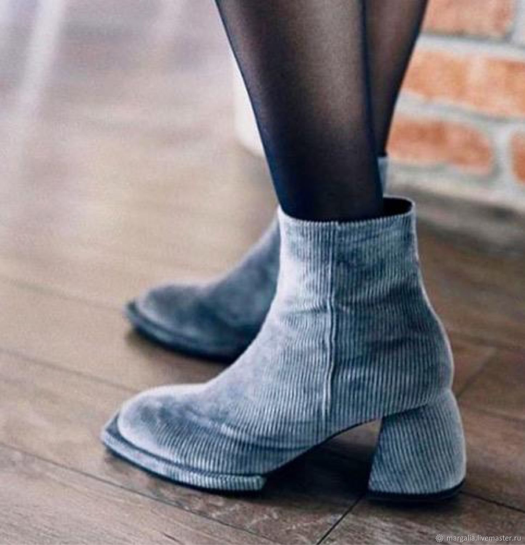 Ботинки из вельвета, Ботинки, Оренбург,  Фото №1