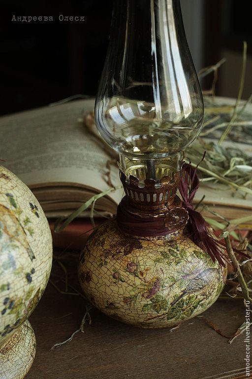 """Освещение ручной работы. Ярмарка Мастеров - ручная работа. Купить Масляная лампа """"Соловьиная история"""". Handmade. Бежевый, масляные лампы"""