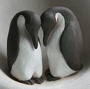 Для дома и интерьера ручной работы. Ярмарка Мастеров - ручная работа Ваза. Пингвины.. Handmade.