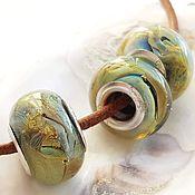 """Украшения handmade. Livemaster - original item Бусины для браслета """"Сюрреализм"""" авторское стекло. Handmade."""