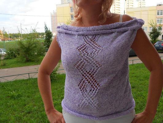 Блузка летняя из хлопка с узором