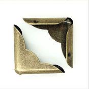 Элементы для скрапбукинга ручной работы. Ярмарка Мастеров - ручная работа Уголок для блокнота 32х23 мм, бронза. Handmade.