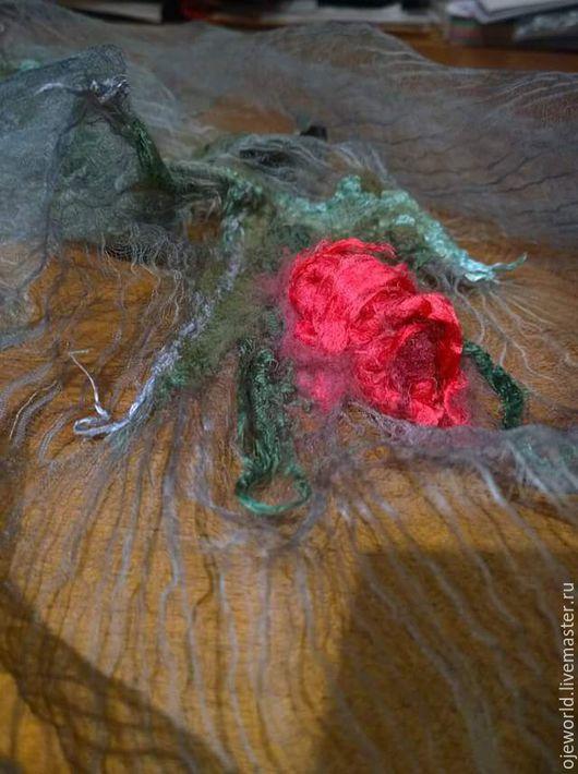 """Шарфы и шарфики ручной работы. Ярмарка Мастеров - ручная работа. Купить """"Роза навсегда"""" шарф. Handmade. Шарф, австралийский меринос"""