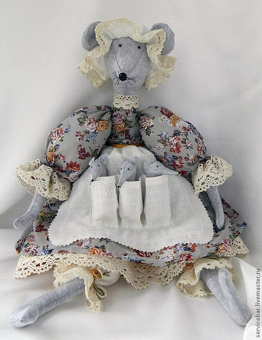 Игрушки животные, ручной работы. Ярмарка Мастеров - ручная работа. Купить Мышь текстильная Матильда Карловна. Handmade. Мышь, маме
