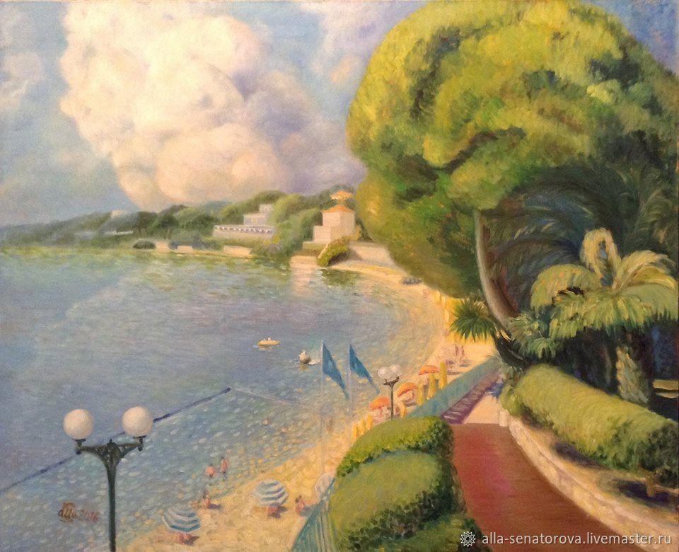 Пляж в маленьком городке Булье, 15 минут езды от Ниццы, городе где два замечательных дома- музея : Марка Зосимовича Шагала и Анри Матисса.