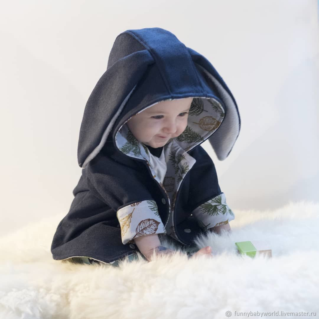 Jacket with ears for kids, , Omsk,  Фото №1