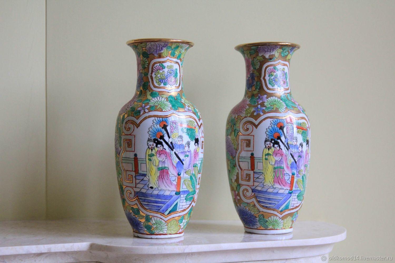 Вазы ручной работы. Ярмарка Мастеров - ручная работа. Купить Японские старинные вазы. Handmade. Япония, комбинированный