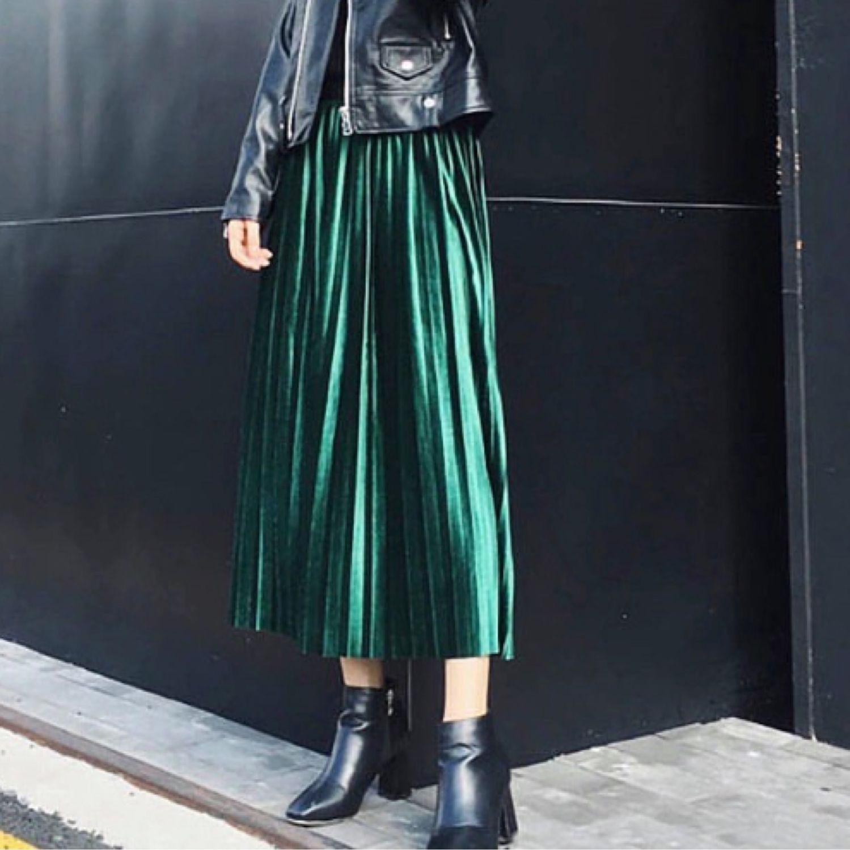 Velvet skirt, pleated skirt, stylish skirt, Skirts, Moscow,  Фото №1