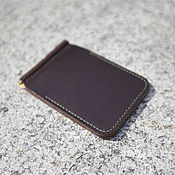 Сумки и аксессуары handmade. Livemaster - original item Horween chromexcel Leather moneyclip wallet. Handmade.