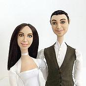 Куклы и игрушки ручной работы. Ярмарка Мастеров - ручная работа Свадебные куклы-болтушки. Handmade.