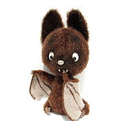 Stuffed Toys handmade. Livemaster - original item Knitted toy bat vampire chocolate. Handmade.