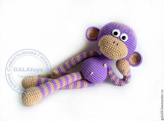 Игрушки животные, ручной работы. Ярмарка Мастеров - ручная работа. Купить Вязаная обезьянка. 42 см.. Handmade. Голубой